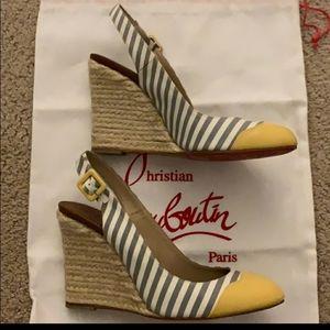 christian louboutin slingback wedges Shoes - Christian louboutin slingback wedges red bottom